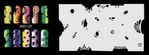 Трафарет для росписи ногтей аэрографом JFH7-127 - фото 28987