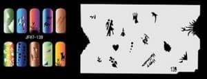 Трафарет для росписи ногтей - фото 28999