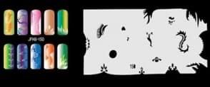 Трафарет для росписи ногтей аэрографом JFH8-150 - фото 29009