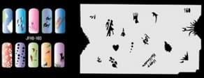Трафарет для росписи ногтей аэрографом JFH8-160 - фото 29018