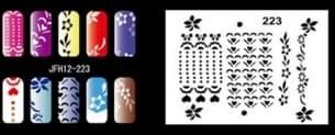 Трафарет для росписи ногтей - фото 29020