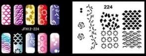 Трафарет для росписи ногтей - фото 29021