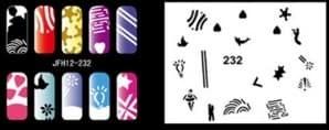 Трафарет для росписи ногтей аэрографом JFH12-232 - фото 29024
