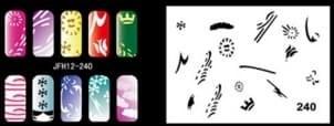 Трафарет для росписи ногтей - фото 29025