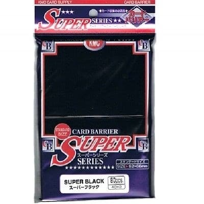KMC Standart Sleeves - Super Black (80 штук) - фото 29257