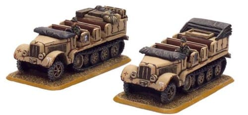Sd Kfz 7 (8t) tractor (2x resin) - фото 29493