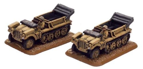 SdKfz10 (1t) Tractor (2x resin) - фото 29495