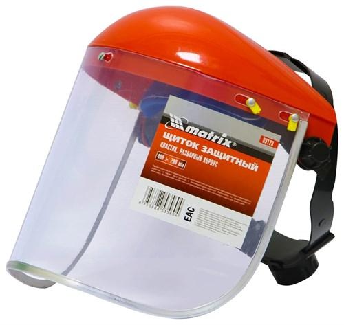 Щиток защитный, 400х200 мм, пластик, защита для лица, разборный корпус// MATRIX - фото 30723