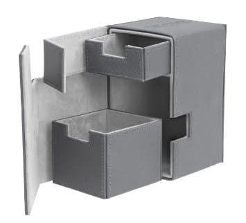 Коробочка 100 + кожаная серая премиум с отделением для кубиков (NEW) - фото 30841