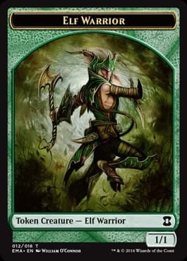 Elf Warrior Token Foil - фото 31356