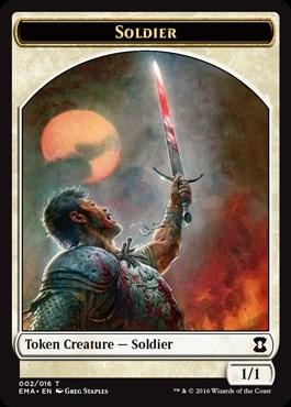 Soldier Token Foil - фото 31595