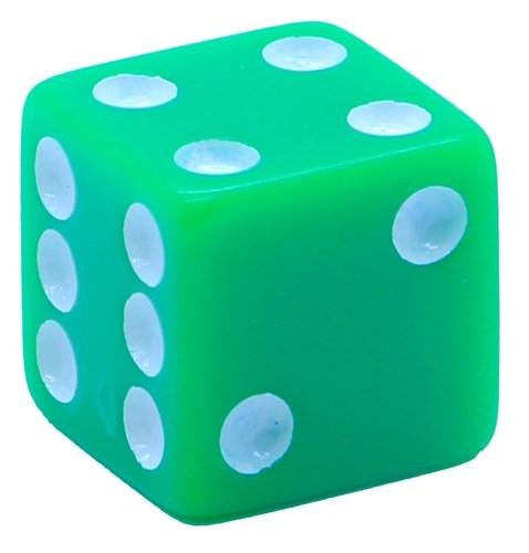 Кубик D6 «Казино» зеленый 16мм - фото 32237