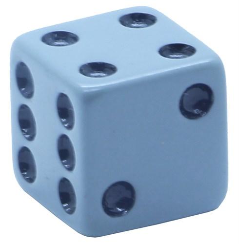 Кубик D6 «Казино» серый 16мм - фото 32246