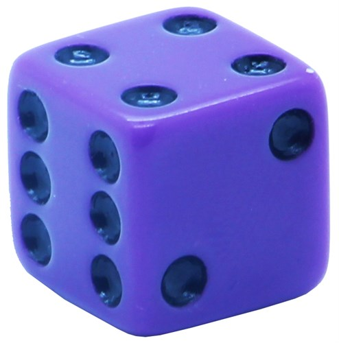 Кубик D6 «Казино» сиреневый 16мм - фото 32247