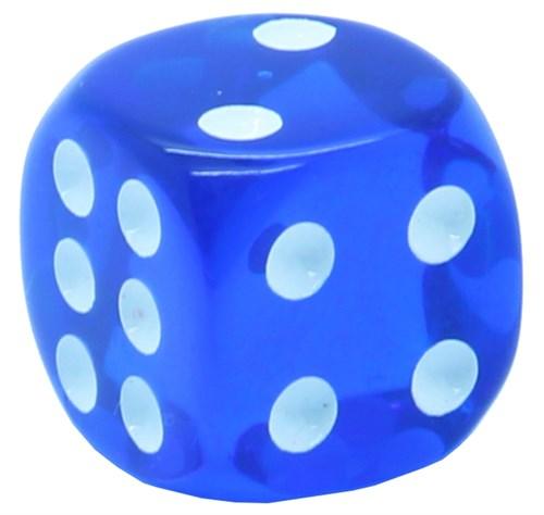 Кубик D6 «Кристалл» синий 14мм - фото 32256