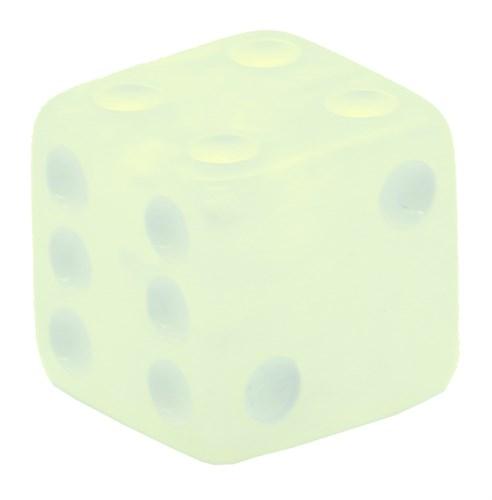 Кубик D6 «Перламутр» белый 16мм - фото 32257