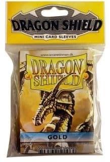 """Протекторы Мини """"Dragon Shield"""" (разноцветные, 50 шт.): золотые АТ-10106 - фото 32430"""