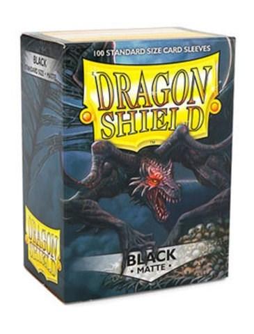 Dragon Shield - Протекторы матовые черные 100 штук - фото 32575