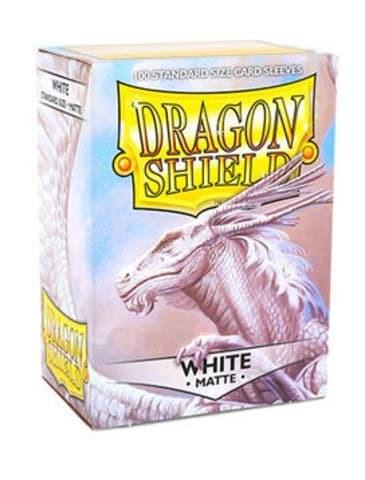 Dragon Shield - Белые матовые протекторы 100 штук - фото 32576