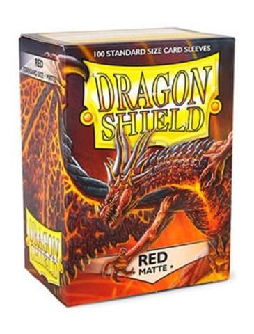 Dragon Shield - Протекторы матовые красные 100 штук - фото 32578