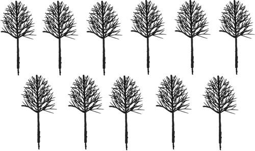 Каркас дерева овальный 100 мм (11 штук) пластик - фото 32721