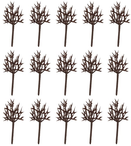 Каркас дерева овальный 40 мм (15 штук) пластик - фото 32724