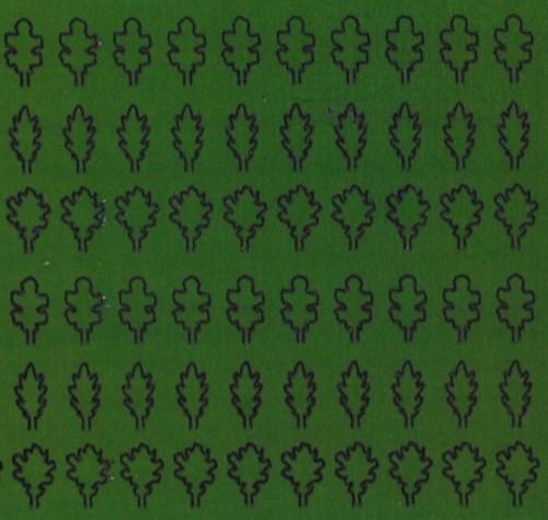 Лист дуба L (203 штуки, 3,5*5 мм) ЗЕЛЕНЫЙ - фото 34226