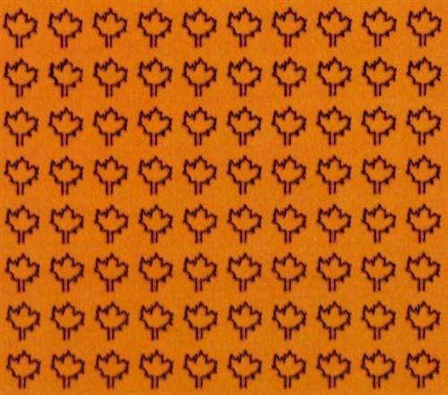 Лист клена M (360 штук, 3,2*3,5 мм) ЖЕЛТЫЙ - фото 34227