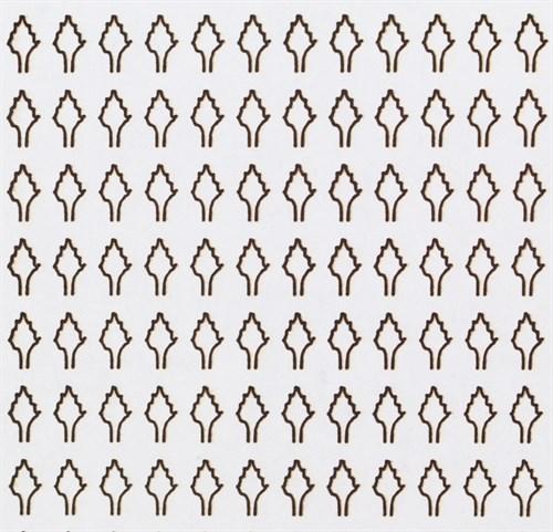 Лист ромбовидный L (273 штуки 2,5*4,2 мм) БЕЛЫЙ - фото 34228