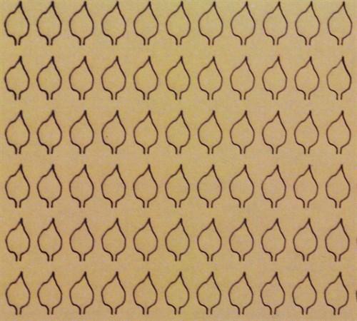 Лист сердцевидный L (220 штук 3,4*6,2 мм) СУХОЙ - фото 34233