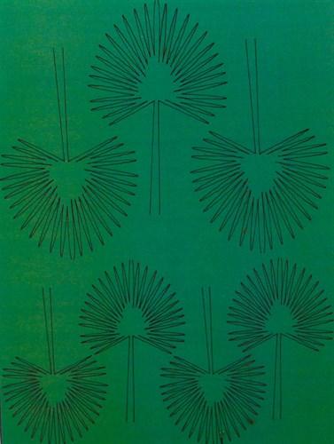 Лист веерной пальмы L - фото 34235