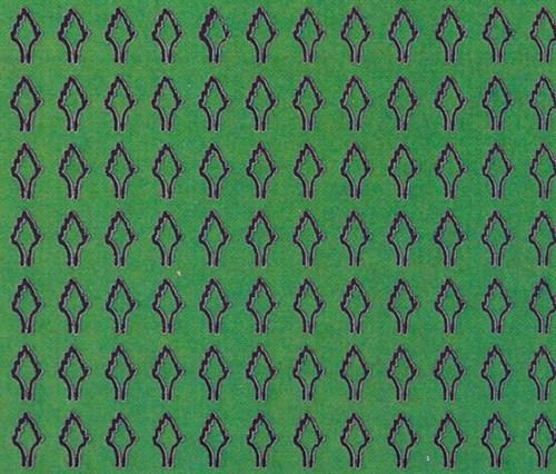 Лист ромбовидный M (408 штук 2*3,5 мм) ЗЕЛЕНЫЙ - фото 34405