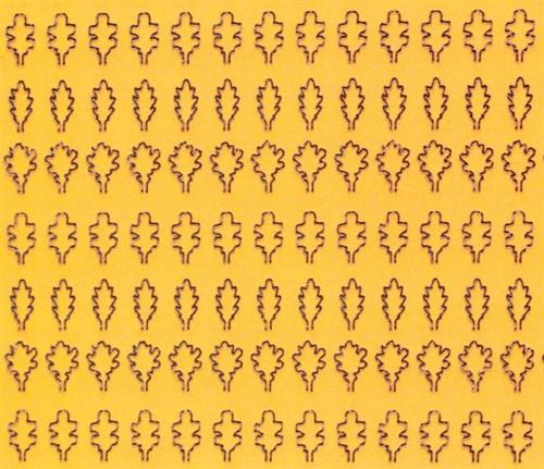Лист дуба L (203 штуки, 3,5*5 мм) ОСЕННИЙ - фото 34408