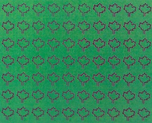 Лист клена L (182 штуки, 4,5*5,5 мм) ЗЕЛЕНЫЙ - фото 34409