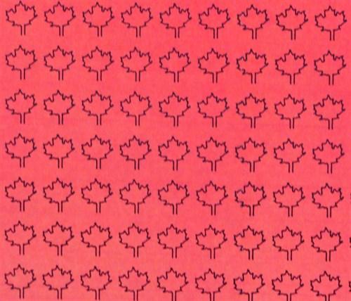Лист клена L (182 штуки, 4,5*5,5 мм) КРАСНЫЙ - фото 34410