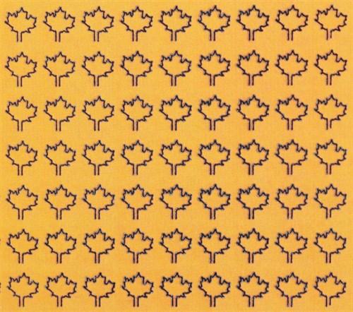 Лист клена L (182 штуки, 4,5*5,5 мм) ЖЕЛТЫЙ - фото 34415