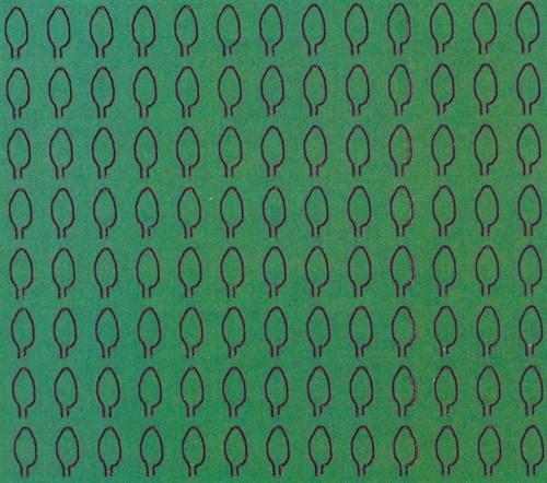 Лист овальный L (294 штуки 2,1*4,1 мм) ЗЕЛЕНЫЙ - фото 34416