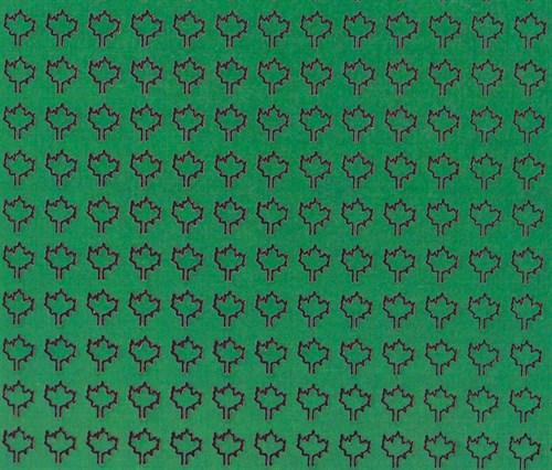 Лист клена M (360 штук, 3,2*3,5 мм) ЗЕЛЕНЫЙ - фото 34418