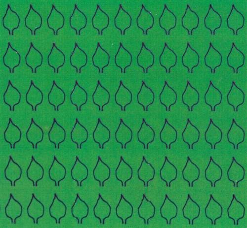 Лист сердцевидный L (220 штук 3,4*6,2 мм) ЗЕЛЕНЫЙ - фото 34426