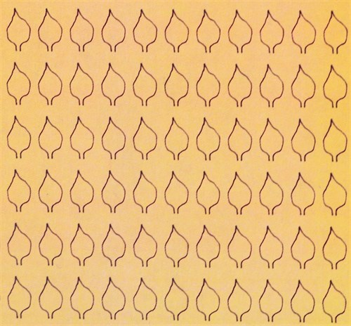 Лист сердцевидный L (220 штук 3,4*6,2 мм) ОСЕНЬ - фото 34428