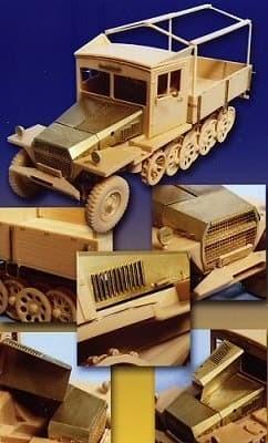 Полугусеничный 3-х тонный тягач  Sd.kfz.11 (поздняя версия) д/AFV - фото 35002