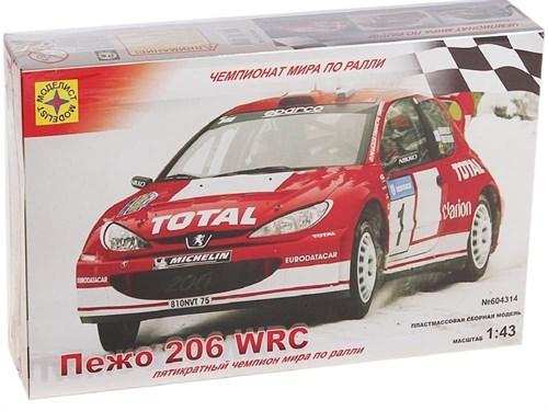 АВТОМОБИЛЬ ПЕЖО 206 WRC (1:43)