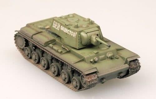 Танк  КВ-1 1941 г. зеленый камуфляж (1:72) - фото 36035