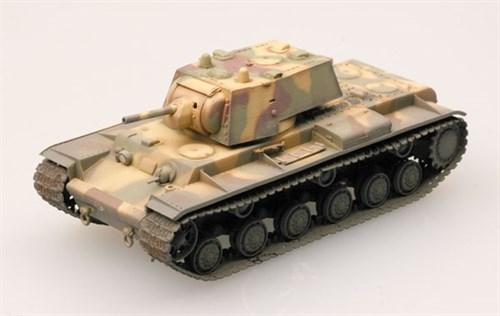 Танк  КВ-1 1941 г. трехцветный камуфляж (1:72) - фото 36036