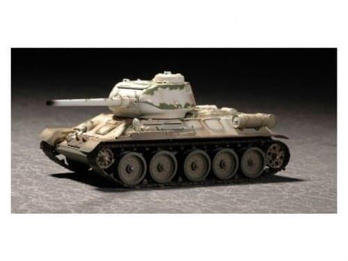 Танк  Т-34/85, зимний камуфляж (1:72) - фото 36037
