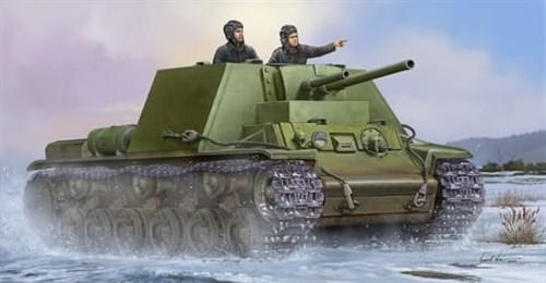 САУ советская КВ-7 мод.1941. об.227 (1:35) - фото 36117