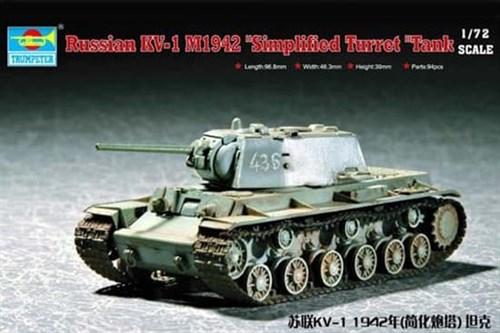 Танк  КВ-1 1942 г. с легкой башней (1:72) - фото 36155