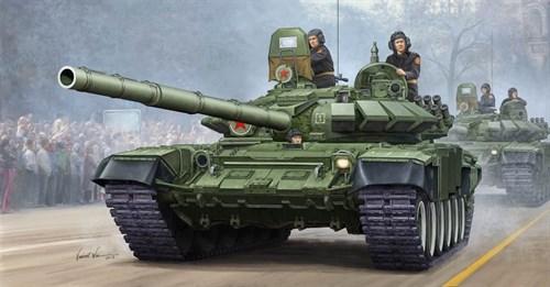 Танк  Т-72Б мод 1990 с литой башней (1:35) - фото 36201