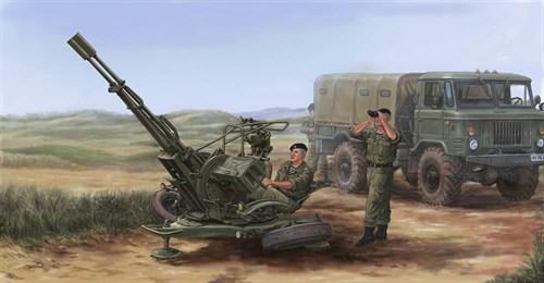23-мм спаренная зенитная установка ЗУ-23-2 (1:35) - фото 36238