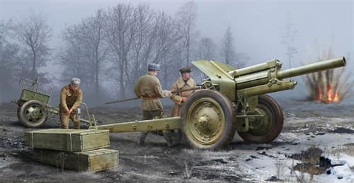 Soviet 122 Mm Howitzer 1938 M-30 Early Version  (1:35) - фото 36240